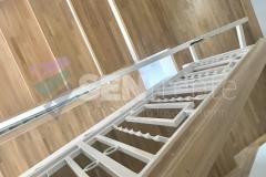Trepte in doua culori cu balustrada 22