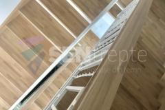 Trepte in doua culori cu balustrada 11