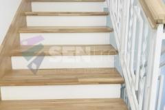 Trepte in doua culori cu balustrada 14