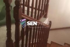 Balustrada cu stalpi din lemn 6