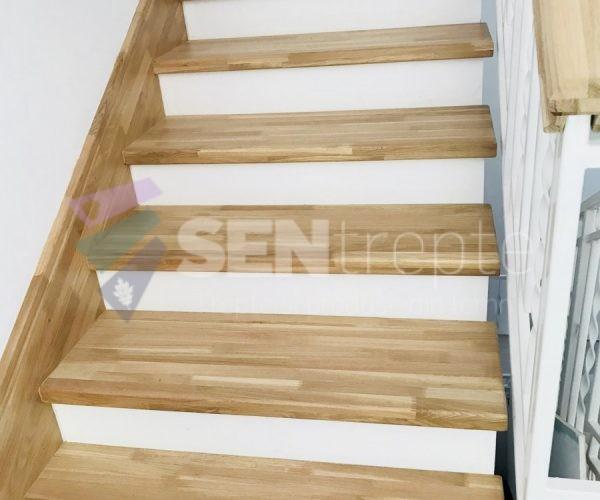 Scara beton placata cu lemn stejar