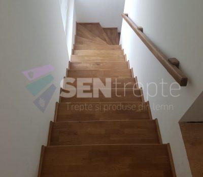 scari interioare arcuite cu o balustrada