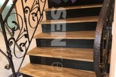 Scara cu balustrada din fier forjat  10